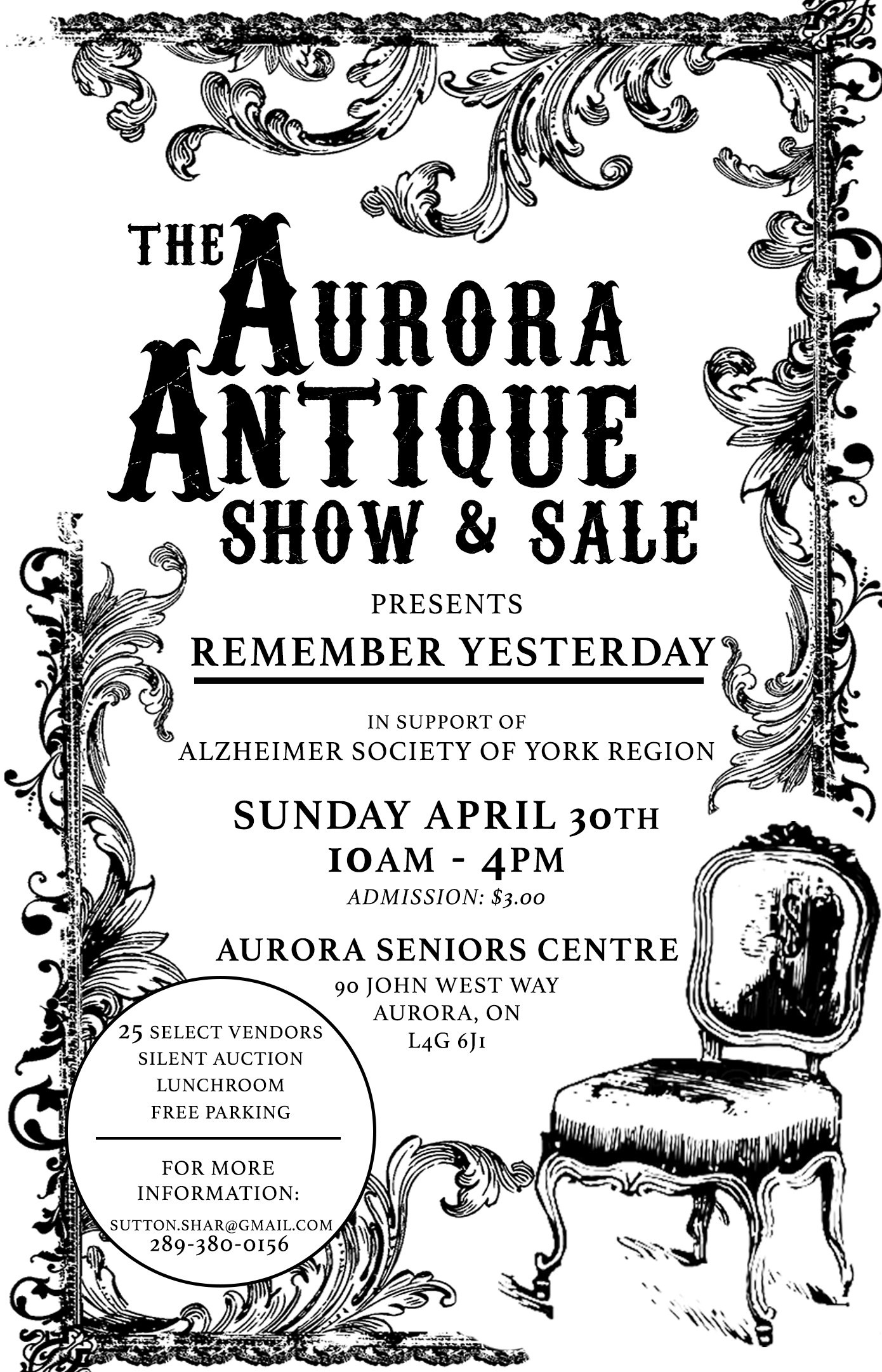 Aurora Antique Show - Supporting Alzheimer Society of York Region